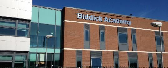 Biddick Academy 3d Lettering