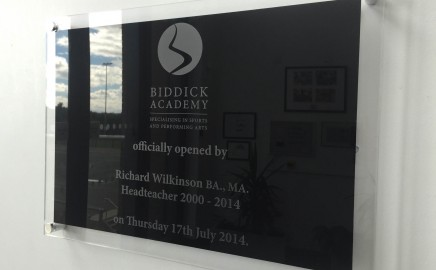 Engraved Acrylic Plaque