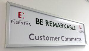 Essentra Customer Comment Board