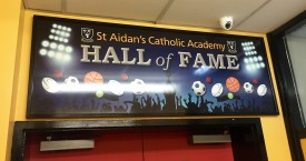 St Aidan's Hall of Fame Sign