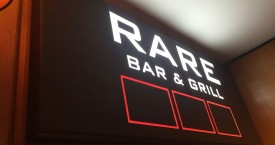 Wood Effect LED Illuminated Sign