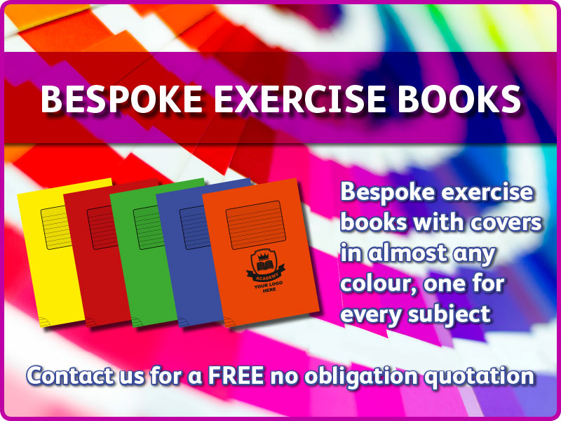 bespoke exercise books